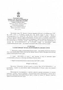 Paulownia Bellissia resenje o upisu u registar 1